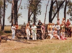 Pork Queens at Nebraska Land Days in North Platte, 1976