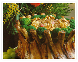 crown_roast_of_pork_with_walnut_rhubarb_stuffing_recipe